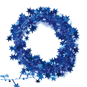 25 FT WIRE STAR GARLAND - BLUE (24 PACKS) PF-3781