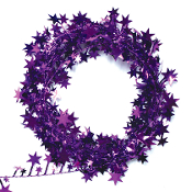 25 FT WIRE STAR GARLAND - PURPLE (24 PACKS) PF-3783