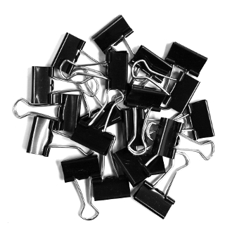 20 PC 2 CM BINDER CLIPS - BLACK (24 PACKS) PF-4018