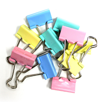10 PC 2.5 CM BINDER CLIPS - ASSORTED (24 PACKS) PF-4021