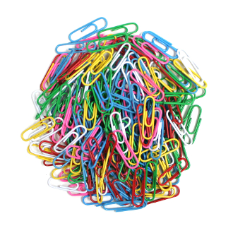 200 PC PAPER CLIPS - ASSORTED (24 PACKS) PF-3962