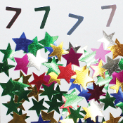 2/3 OZ. CONFETTI - #7 & STARS (24 PACKS) PF-3710