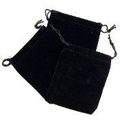 "3 PCS 3.75""W X 5""H VELVET POUCH - BLACK (24 PACKS) PF-4035"