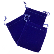 "3 PCS 3.75""W X 5""H VELVET POUCH - BLUE (24 PACKS) PF-4037"