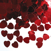1 OZ. CONFETTI - SMALL RED HEARTS (24 PACKS) PF-3698