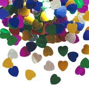 1 OZ. CONFETTI - SMALL ASSORTED HEARTS (24 PACKS) PF-3699