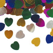 1 OZ. CONFETTI - MED ASSORT HEARTS (24 PACKS) PF-3701
