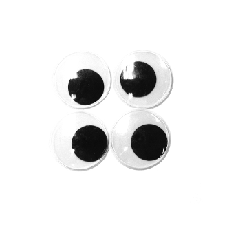 4 PC WIGGLE EYES - 5 CM (24 PACKS) PF-3598