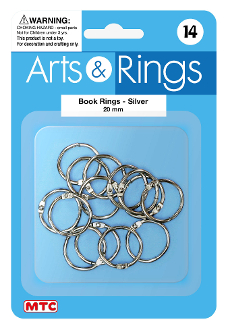 14 PC 2 CM BOOK RINGS (24 PACKS) PF-4022