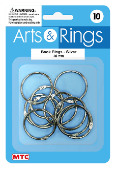 10 PC 3 CM BOOK RINGS (24 PACKS) PF-4024