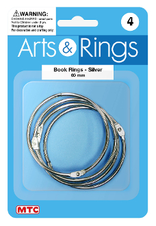 4 PC 6 CM BOOK RINGS (24 PACKS) PF-4027