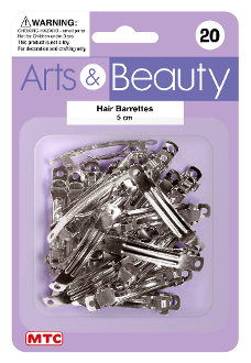 20 PCS 5 CM HAIR BARRETTES (24 PACKS) PF-4145