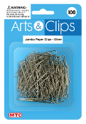 100 PC JUMBO PAPER CLIPS - SILVER (24 PACKS) PF-3965