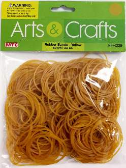 80 GM (2.8 OZ) YELLOW RUBBER BANDS (24 PACKS) PF-4229