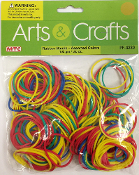 100 GM (3.5 OZ) ASST.COLORS RUBBER BANDS (24 PACKS) PF-4230