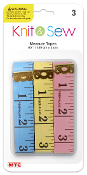 "3 PC 60"" X 2 CM MEASURE TAPES ASSORTED (24 PACKS) PF-4052"