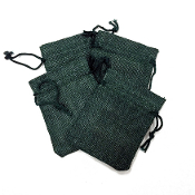 "4 PCS 2.75"" X 3.5"" BURLAP BAGS - GREEN (24 PACKS) PF-4299"