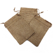 "3 PCS 4 ""X 5.5"" BURLAP BAGS - NATURAL (24 PACKS) PF-4302"
