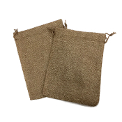 "2 PCS 5.5"" X 8"" BURLAP BAGS - NATURAL (24 PACKS) PF-4308"