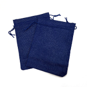 "2 PCS 5.5"" X 8"" BURLAP BAGS - BLUE (24 PACKS) PF-4310"