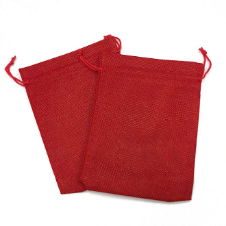 "2 PCS 5.5"" X 8"" BURLAP BAGS - RED (24 PACKS) PF-4309"