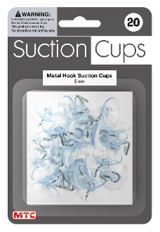 20 PC 2 CM METAL HOOK SUCTION CUPS (24 PACKS) PF-4200
