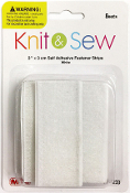 "8 SET 3"" X 3CM SELF ADHESIVE FASTENER -WHITE (24 PACKS) PF-4233"