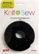 4 FT X 3 CM FASTENER STRIP - BLACK (24 PACKS) PF-4246