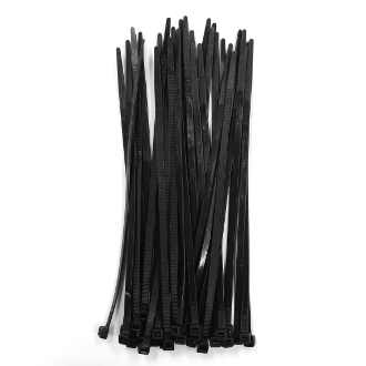 "36 PC 8"" (20 CM) X 5 MM CABLE TIES-BLACK (24 PACKS) PF-4274"