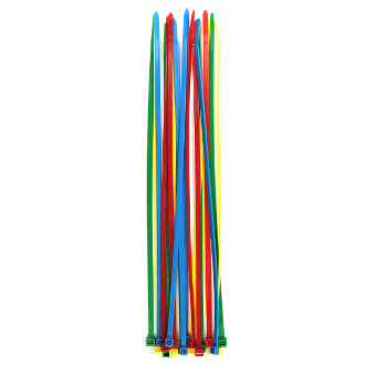 "24 PC 12"" (30 CM) X 5 MM CABLE TIES-ASSORTED (24 PACKS) PF-4282"