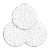 "3 PC 6"" ROUND PLASTIC CANVAS-CLEAR (24 PACKS) PF-4314"
