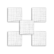 "5 PC 3"" SQUARE PLASTIC CANVAS-CLEAR (24 PACKS) PF-4319"