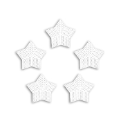 "5 PC 3"" STAR PLASTIC CANVAS-CLEAR (24 PACKS) PF-4321"