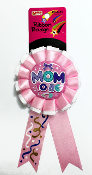 RIBBON BADGES - MOM TO BE PINK (24 PCS) PF-4485