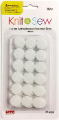 2 SETS 36 PC (1.5CM) FASTENER DOTS-WHITE (24 PACKS) PF-4250