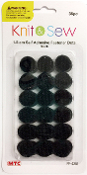 2 SETS 36 PC (1.5CM) FASTENER DOTS-BLACK (24 PACKS) PF-4251