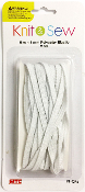 20 FT X 4 MM POLYESTER ELASTIC - WHITE (24 PACKS) PF-4254