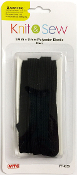 12 FT X 9 MM POLYESTER ELASTIC - BLACK (24 PACKS) PF-4259