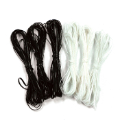 6 PCS 15FT/EA LACING CORDS - BLACK WHITE (24 PACKS) PF-4401