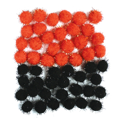 0.49 OZ BLACK FEATHERS (24 PACKS) PF-2466