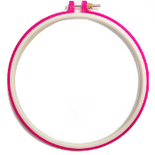 "10"" PLASTIC EMBROIDERY HOOP - ASSORTED (8 PACKS) 38017"