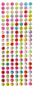 147 PC 10 MM LARGE RHINESTONE STICKERS-ASSORT (24 PACKS) PF-4427