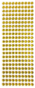 220 PC 8MM MEDIUM RHINESTONE STICKERS-GOLD (24 PACKS) PF-4428