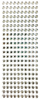 220 PC 8MM MEDIUM RHINESTONE STICKERS-SILVER (24 PACKS) PF-4429