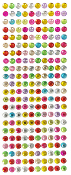 220 PC 8MM MEDIUM RHINESTONE STICKERS-ASSORT(24 PACKS) PF-4431