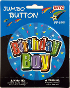 "4"" JUMBO BUTTON - BIRTHDAY BOY (24 PCS) PF-6101"