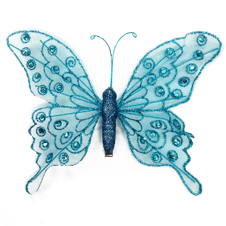 "8"" BUTTERFLY CLIP-BLUE (24 PACKS) PF-4496"