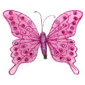 "8"" BUTTERFLY CLIP-MAGENTA (24 PACKS) PF-4497"