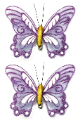 "2 PC 5"" BUTTERFLY CLIPS-PURPLE (24 PACKS) PF-4500"