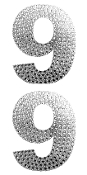 "2 PC 4"" RHINESTONE STICKERS-#9 SILVER (24 PACKS) PF-4455"
